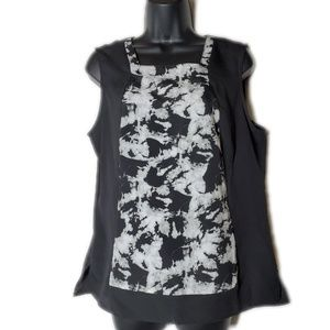Cynthia Rowley Black and White Floral Blouse